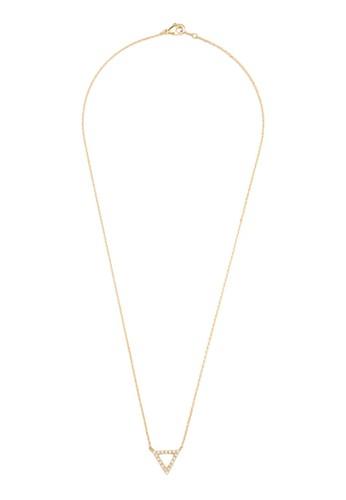 閃鑽三角鏤空墜飾項鍊, 飾品配件, 項esprit台灣鍊