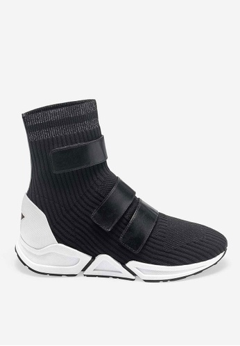ASH black Triton - Black Knit High-Top Sneakers 7D48BSH337647CGS_1