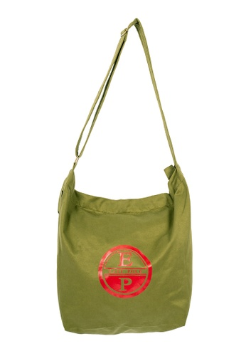 East Pole green Unisex Two-way Crossbody Large tote bag EC3AFAC5008534GS_1