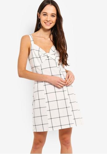 Something Borrowed white Bow Front Sleeveless Dress 6DD58AABDE8BA9GS_1