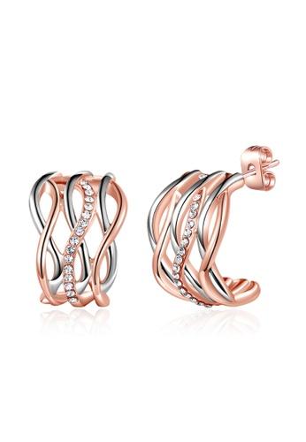 Kings Collection Rose Gold Cross Earrings (KJEA18041a) 946FEAC3833B20GS_1