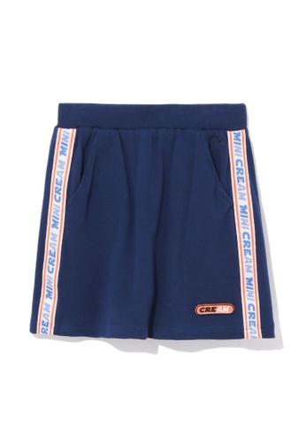 Mini cream navy Logo tape mini skirt F3793AA3DF45E9GS_1