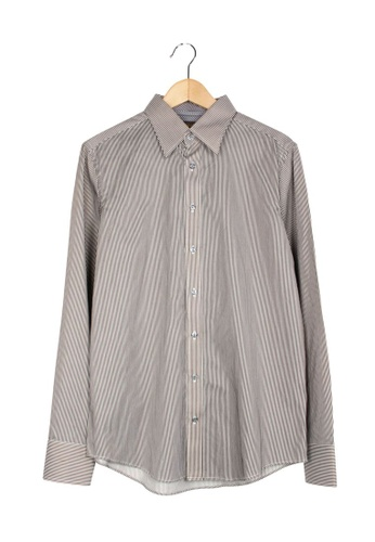 Ted Baker brown Pre-Loved ted baker Stripes Shirts BC09CAA017CA3EGS_1