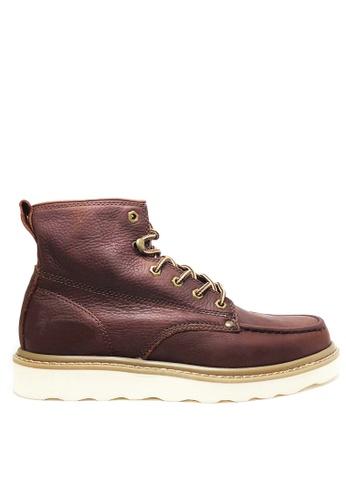 Twenty Eight Shoes 褐色 男裝真皮高桶皮靴 MC3500 7D2F6SH92B5F20GS_1