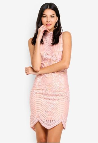 Bardot pink Alice Lace Dress 205DFAAB6BFF99GS_1