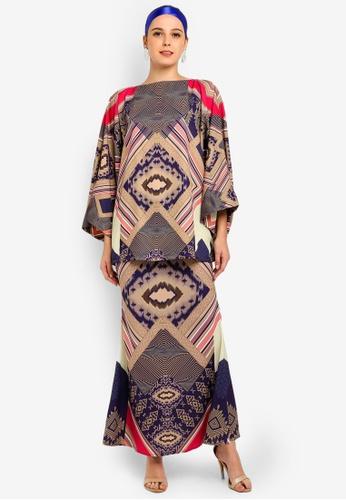 Tapestry Kimono Kurung from Tom Abang Saufi for ZALORA in Multi