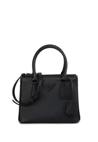 PRADA black MICRO GALLERIA Saffiano Leather Crossbody Bag 88892ACE1E40E2GS_1