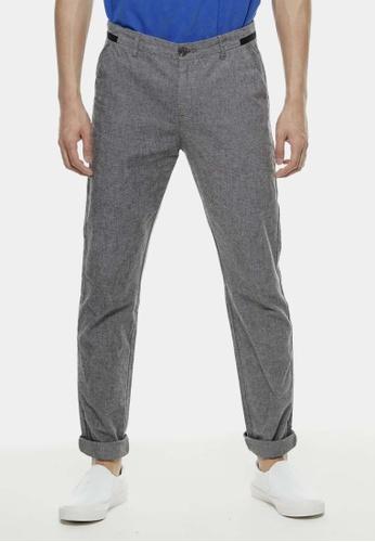 Private Stitch black Slim Fit Essential Oxford Trouser PR777AA71QPCMY_1