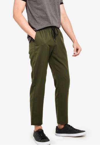 ZALORA BASICS green Basic Skinny Drawcord Waist Trousers 2D24BAAC9B1482GS_1