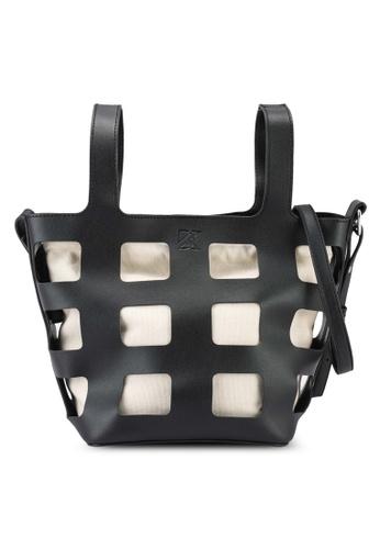 Keddo black and white Rosalinda Sling Bag 4904AAC0DD26A8GS_1