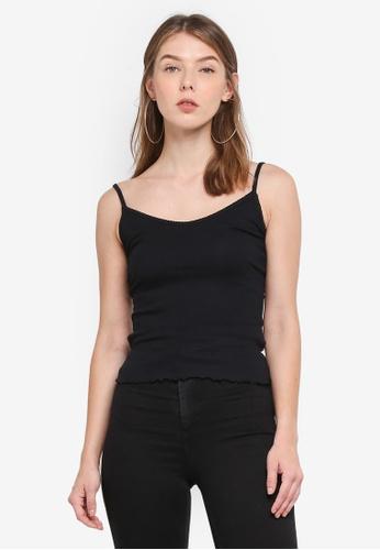 TOPSHOP black Remi Vest Top E4C1AAA9A3EB89GS_1