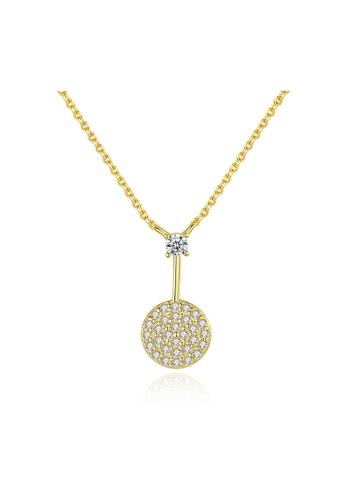 SUNRAIS gold Premium Silver S925 Gold Round Necklace 258D3AC23558C3GS_1