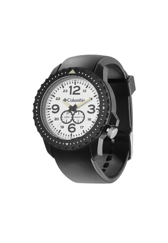 Columbia black and white Columbia Urbaneer CA008-060, Black / White Case, White Dial, Analogue Watch CO232AC32ZZZMY_1