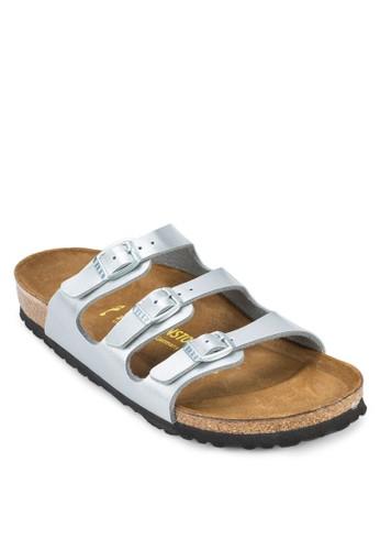 Florida 三帶扣環平底涼鞋, 女鞋, esprit台灣官網懶人鞋