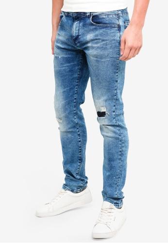 OVS 藍色 緊身丹寧牛仔褲 91331AA5AE5F17GS_1