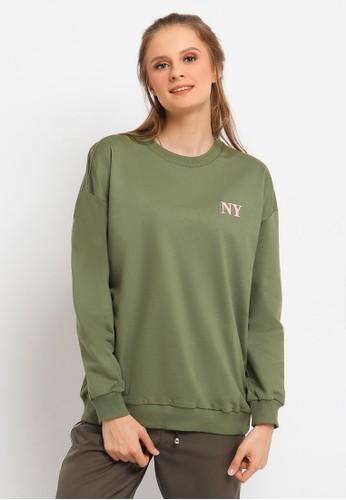Osella green Osella Baju Perempuan Sweater Green B872EAADFDE7A6GS_1