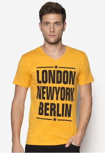 都市名稱設計esprit 工作TEE, 服飾, 印圖T恤