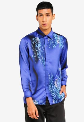 Gene Martino blue Men Batik Shirt A121EAAD62F686GS_1