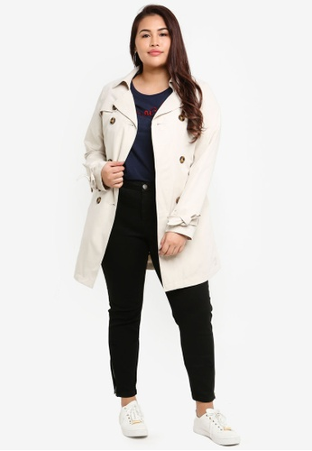 33828a46cbd Buy Junarose Plus Size Tukka Long Sleeve Trench Coat Online on ZALORA  Singapore