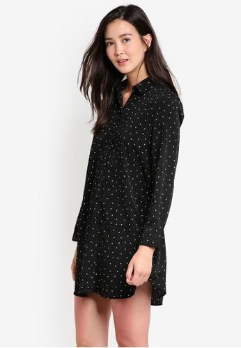 ZALORA black Relaxed Swing Shirt Dress E0530AA2F5A721GS_1