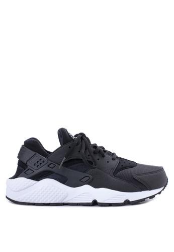 Nike black and white Nike Air Huarache Run Shoes NI126SH45DDAPH_1