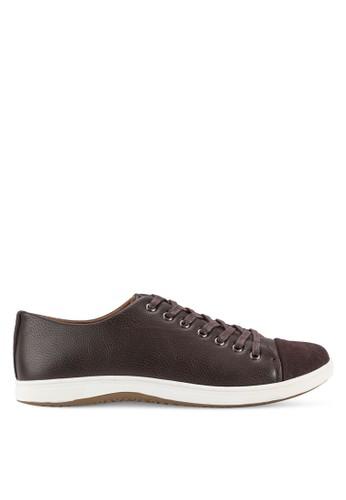 對比色拼接鞋頭繫帶休閒鞋, 鞋, 休閒zalora 台灣門市鞋