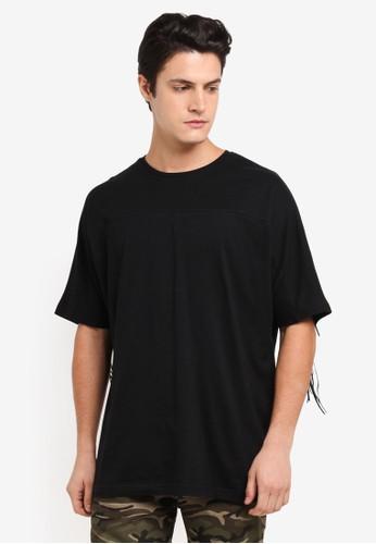Flesh Imp black Thread Hole Patch Oversized T-Shirt B6949AA9A4B07DGS_1