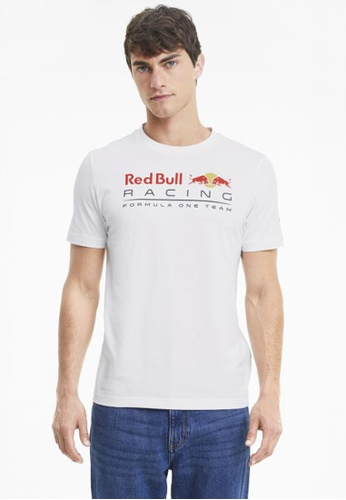 puma white Red Bull Racing Logo Men's Tee 1A375AAA59466AGS_1