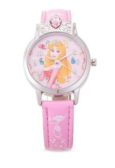 Disney Princess Girls Pink Leather Strap Watch TG-3K2376U-PS-002LP