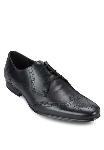 雕花esprit床組繫帶皮鞋, 鞋, 皮鞋