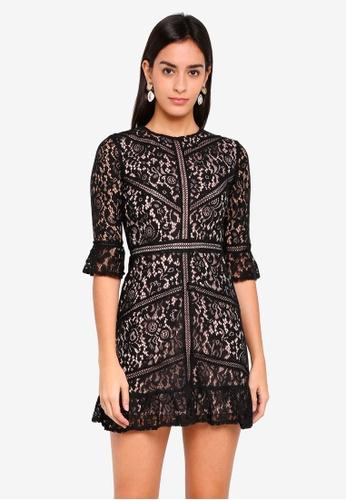 MDSCollections black Georgia Lace Dress In Black B3BEBAA0000323GS_1