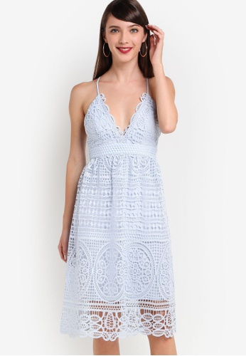 Bardot blue Versailles Lace Dress BA332AA74UVPMY_1