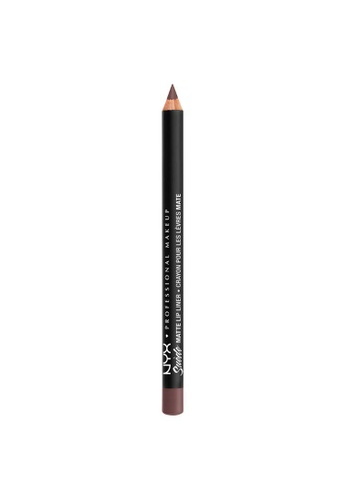 NYX Professional Makeup brown NYX Professional Makeup Suede Matte Lip Liner - SMLL 67 - MOONWALK 7D626BE0087F15GS_1