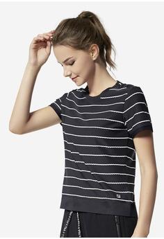 6c1909ab3516e FILA navy Ginny Stripe T-shirt 1CDA5AA36A673EGS_1