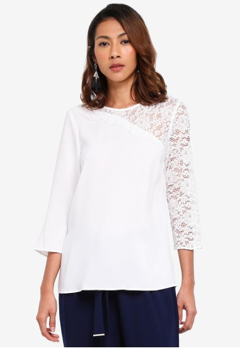 Dorothy Perkins white Ivory Lace Insert Top 1BEEBAA87D8B6AGS_1