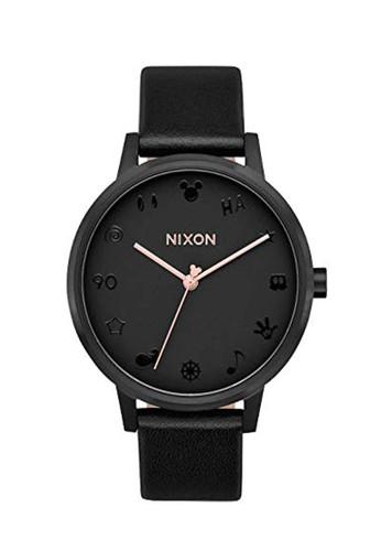 Nixon black Kensington Leather Mickey Mouse DA900AC4441BBEGS_1
