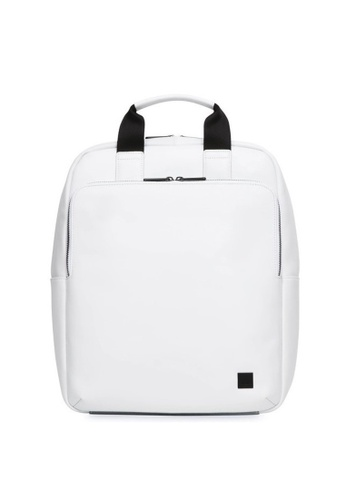 "knomo white Dale 15"" Leather Tote Backpack (White) 00A70ACFD5F838GS_1"