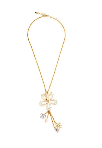 Jewelplace gold Flower Statement Necklace JE882AC52KJFPH_1