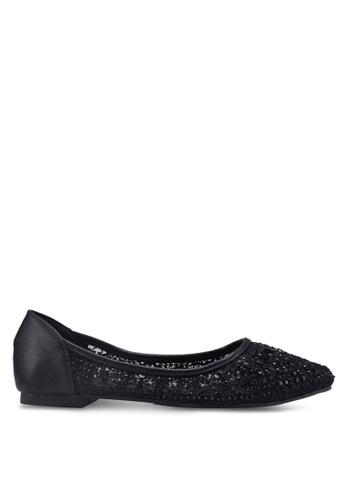 Mimosa black Lace Pointy Ballerina Flats 3168DSHC54EB8FGS_1