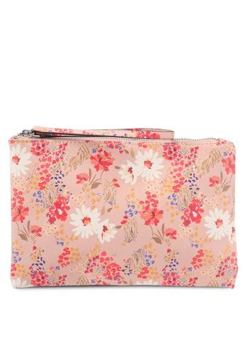 Mango beige Floral Saffiano-Effect Cosmetic Bag 974C4AC8D1CEBAGS_1