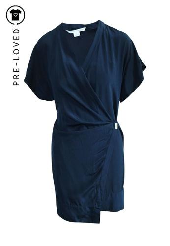 Diane Von Furstenberg blue Pre-Loved diane von furstenberg Navy Blue Two Layers Dress F932AAA7901832GS_1
