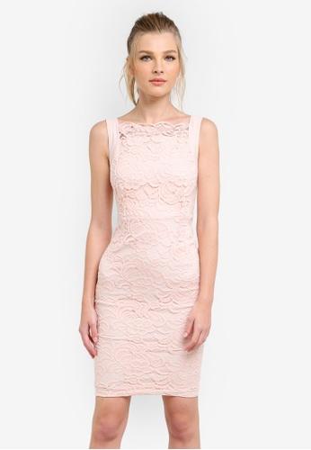 Vesper pink Amelia Lace Bodycon Dress VE733AA0S78VMY_1