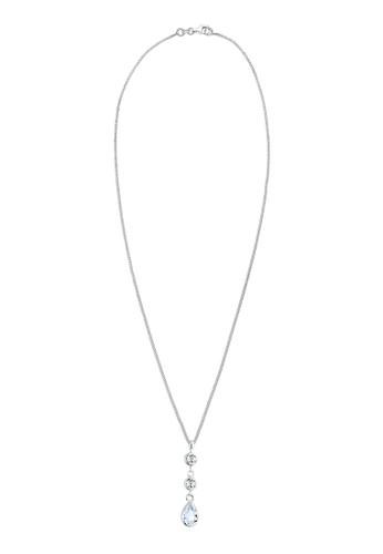 施華洛世奇水晶高雅吊墜  925 銀項鍊esprit 衣服, 飾品配件, 項鍊