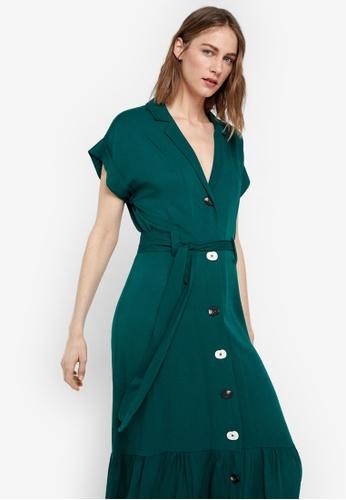 Cortefiel green Green Tencel Dress 82A2EAA11304C6GS_1