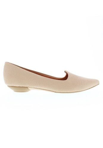 Beira Rio beige Solid Color Pointed Casual Slip On BE995SH23XFGHK_1