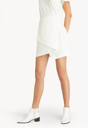 Pomelo white Asymmetric Hem Skirt - Off White 9FF72AAE50CF41GS_1