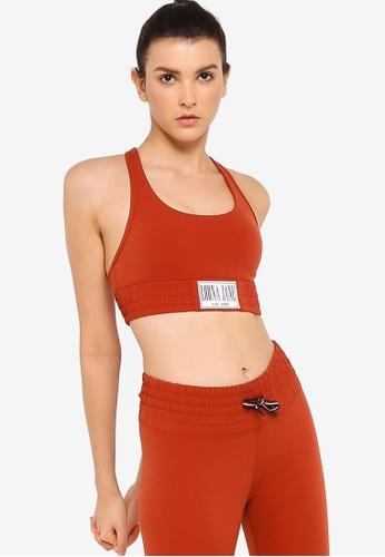 Lorna Jane orange Balboa Sports Bra 521FEUSF837064GS_1