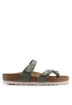 f8c736735853 Birkenstock green Mayari Patent Sandals F79B5SH00DCE26GS 1