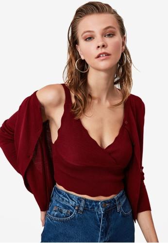 Trendyol red 2-Pieces Knitwear Top Cardigan Set AC4EBAA5D4901FGS_1