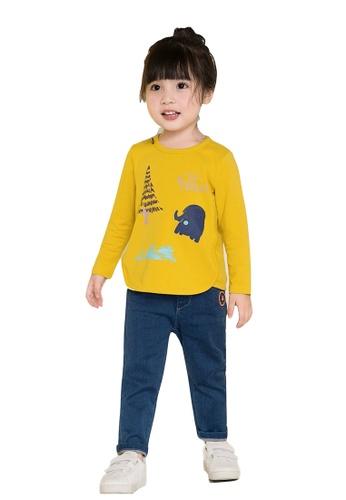 M.Latin blue Elastic Waistband Jeans with Embroidery 284BBKAC90DA15GS_1